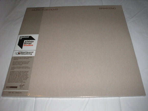 Brian Eno Music For Films 2 LP Half Speed Mastered Vinyl 45 RPM EU Import NEW SEALED