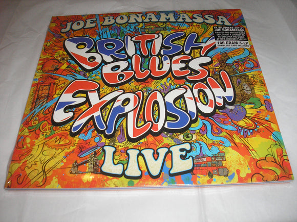 Joe Bonamassa British Blues Explosion Live 3 LP 180 Gram Vinyl & Download EU Import Gatefold NEW SEALED