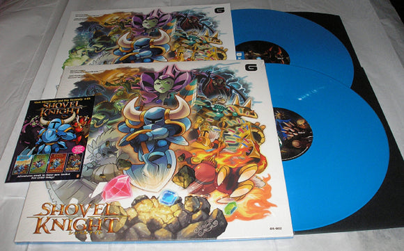 Shovel Knight The Definitive Video Game Soundtrack 2 LP SKY BLUE Color Vinyl & Download NEW SEALED