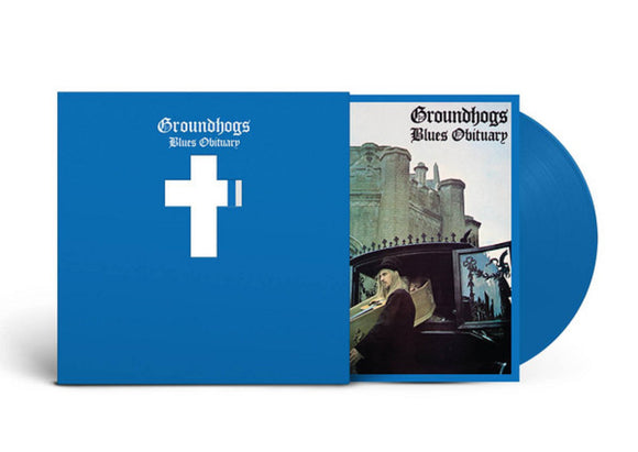 The Groundhogs Blues Obituary LP Remastered Blue Colored Vinyl & Download 50th Anniversary Ltd Ed Die-Cut Sleeve UK Import NEW