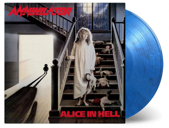 Annihilator Alice in Hell Debut LP 180 Gram BLUE BLACK Mixed Vinyl Ltd MOV NEW PreOrder
