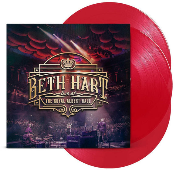 Beth Hart Live At The Royal Albert Hall 3 LP 180 Gram Limited RED or BLACK Vinyl EU Import NEW SEALED