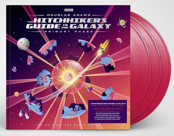 The Hitchhiker's Guide to the Galaxy Primary Phase 3 LP 180 Gram COLOR Vinyl Box Set UK Import NEW PreOrder