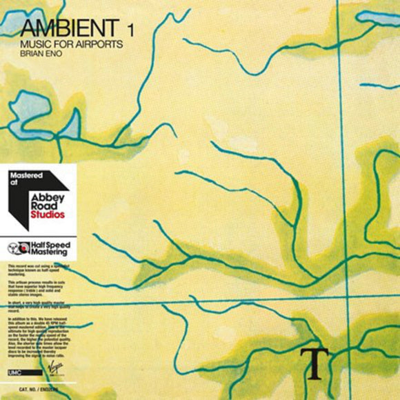 Brian Eno Ambient 1: Music For Airports 2 LP Half Speed Mastered Vinyl 45 RPM EU Import NEW SEALED