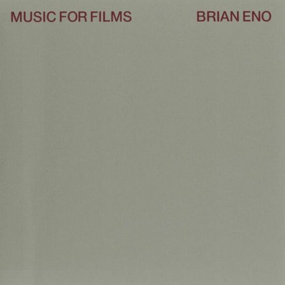 Brian Eno Music For Films LP 180 Gram Remastered Vinyl & Download EU Import NEW SEALED
