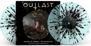 Outlast Trilogy of Terror The Anthology Original Game Score Soundtrack 2 LP Blue with Black Splatter Vinyl EAS Exclusive NEW Preorder