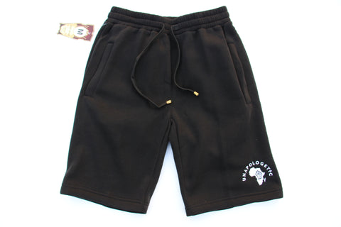 Black Unapologetic Jogger Shorts