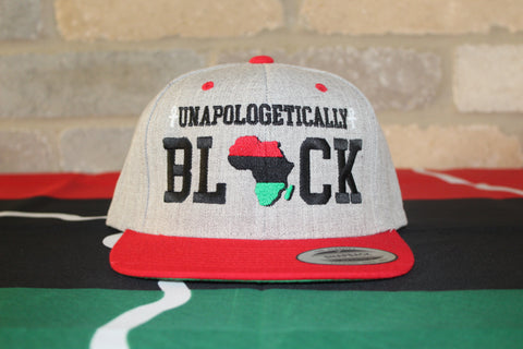 Heather Grey/ Red Unapologetic Snapback