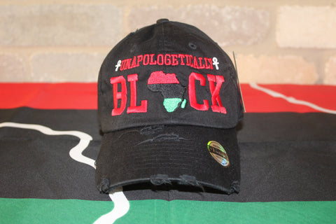Black Unapologetic Distress Cap