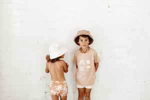 2 boys wearing bam loves boo babywear