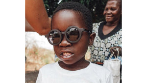 baby boy wearing babymoc sunglasses