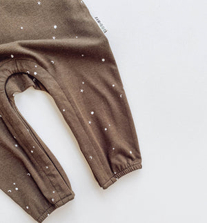 Stargazer Jumpsuit in canteen with stars and moons