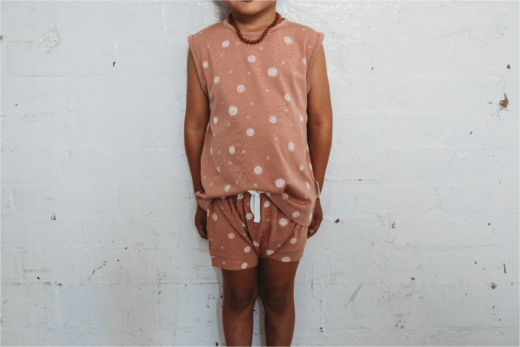 Suns out printed singlet up to 5 years. unisex design, Buttery  soft bamboo and organic cotton blend.