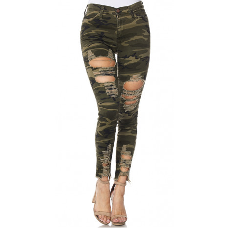 Camo Jeans - Distressed