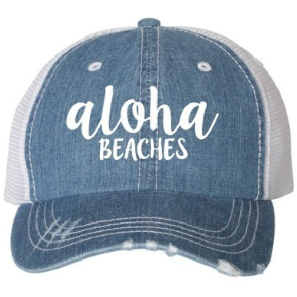 Aloha Beach - Light Denim Wash Trucker Hat