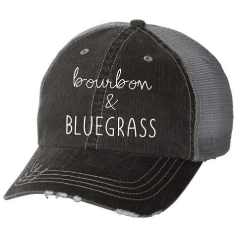 Bourbon & BLUEGRASS - Vintage Trucker Hat