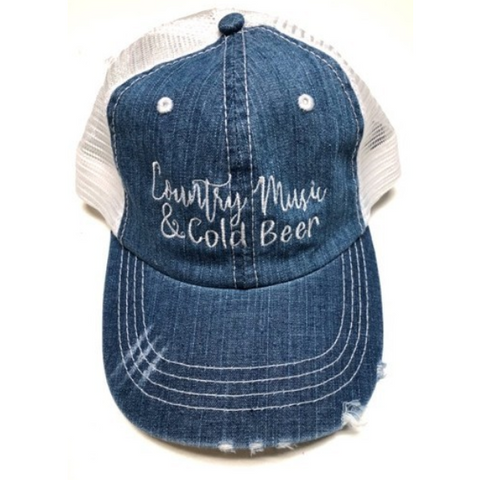 County Music & Cold Beers - Vintage Trucker Hat