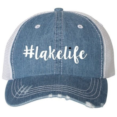 #Lakelife - Vintage Light Denim Trucker Hat