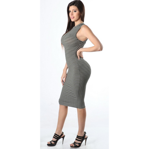 Olive Stripped Dress