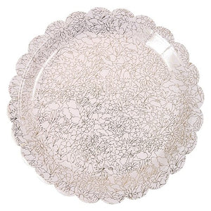 Large Lace Scallop Plates