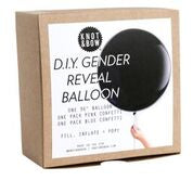 D.I.Y gender reveal balloon