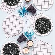 Black and White Party Napkins
