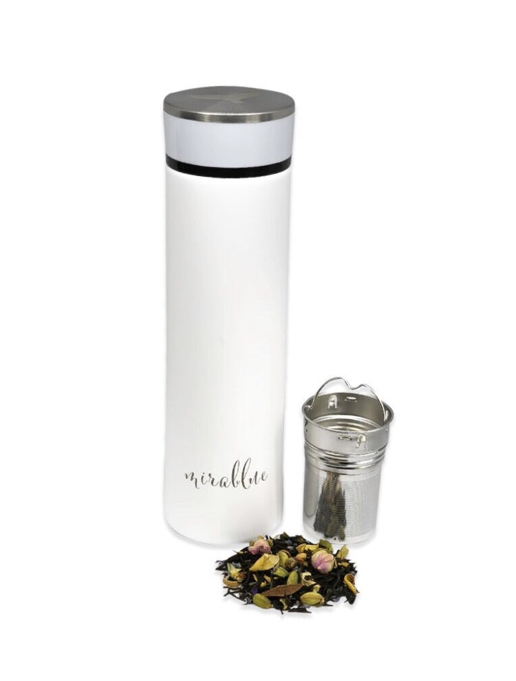 INFUSER WATER BOTTLE- IVORY