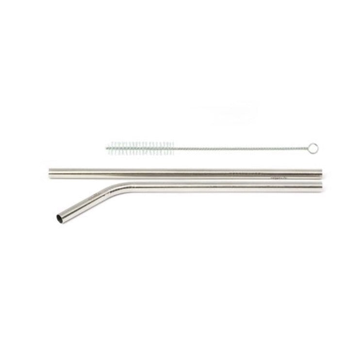 STAINLESS STEEL STRAW - 2 PIECE SET