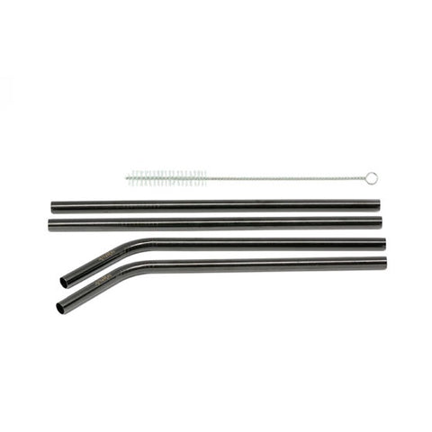 Black Stainless Straw 4 pack