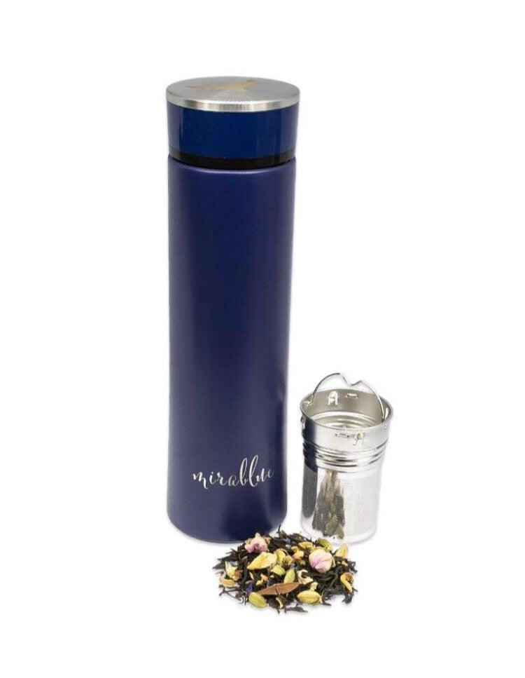 INFUSER WATER BOTTLE SET - INDIGO