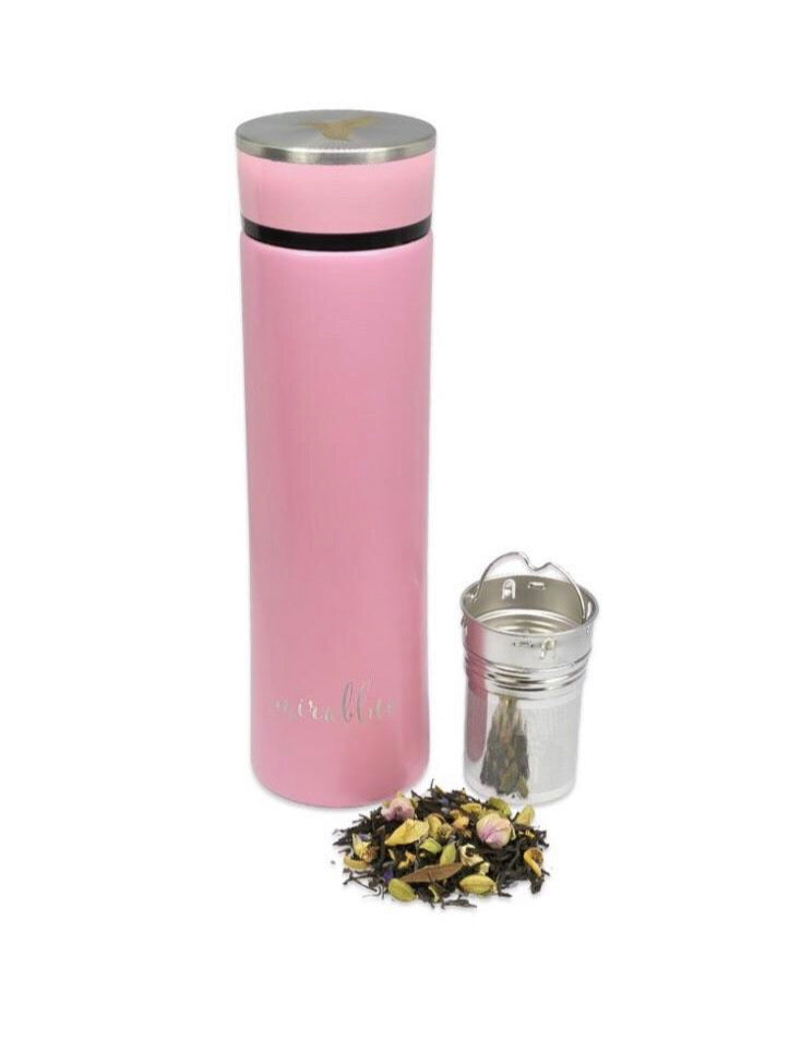 INFUSER WATER BOTTLE SET BLUSH