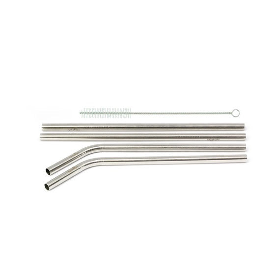 STAINLESS STRAW- 4 PIECE SET