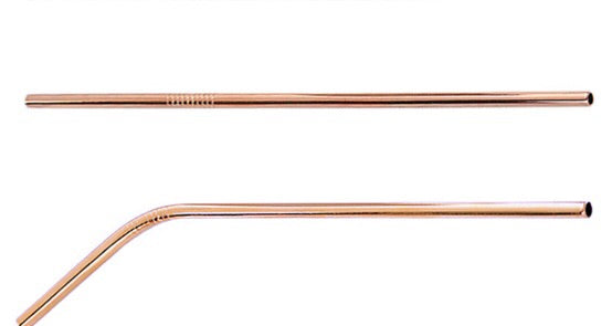 ROSE GOLD STAINESS STRAW - 2 PIECE SET