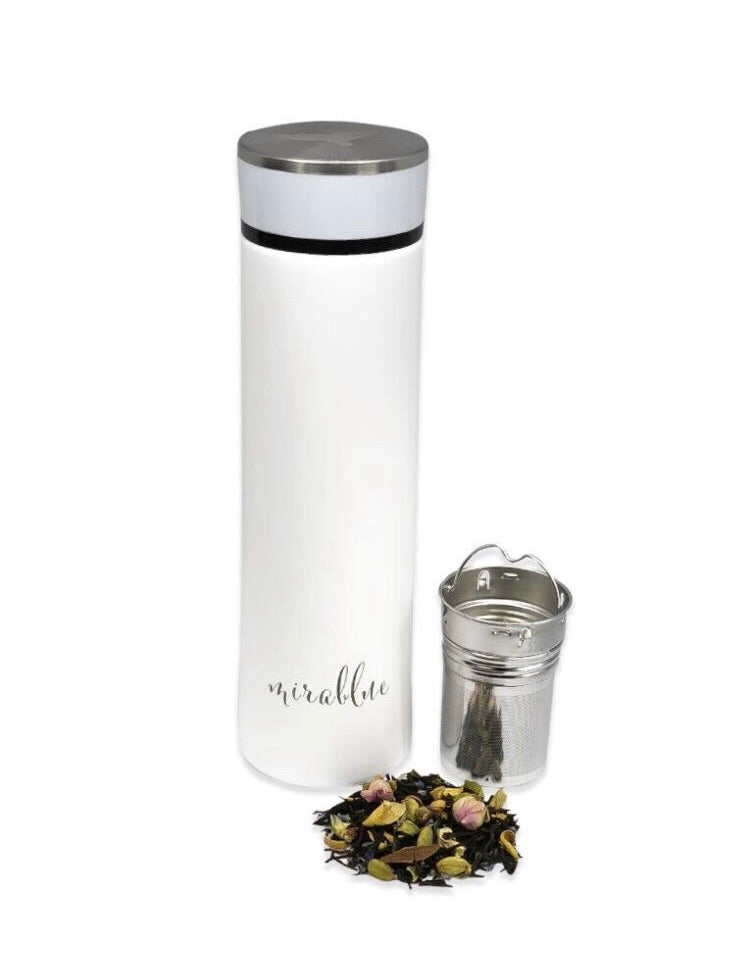 INFUSER WATER BOTTLE SET- IVORY