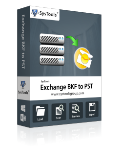 SysTools Exchange BKF to PST - Personal License