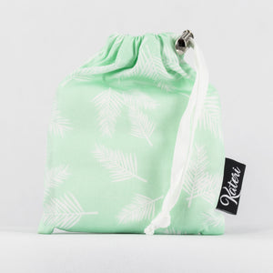 PRODUCE BAG COMBO  with pouch - mint & white