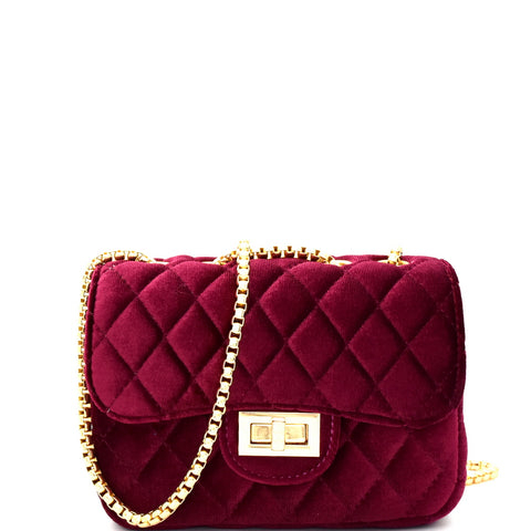 Roma Velvet Crossbody Bag - iNowacollections