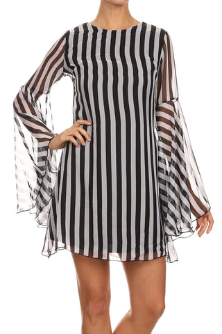 Stripe It Down Mini Dress - iNowacollections