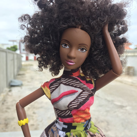 Nubia Brown Doll - Afro Hair