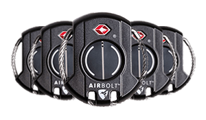 5 AirBolt Travel Sized Locks - Black
