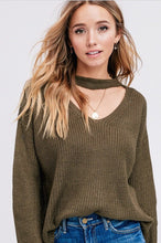 Evergreen Keyhole Sweater