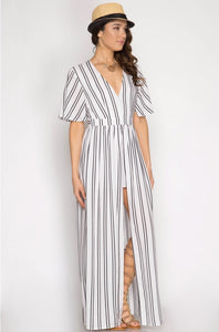 Pin Stripe Vacation Romper
