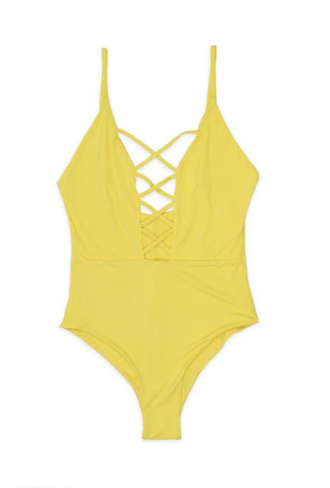 Yellow Mellow Criss Cross One Piece