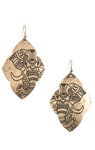 Save the Elephants Engraved Earrings