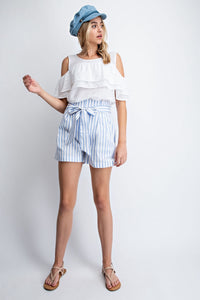 Babes Who Brunch Stripe Shorts