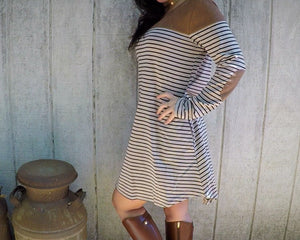 Striped Tee Shift Dress