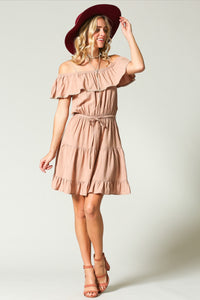 Iced Latte Ruffle Mini Dress