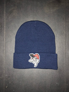 Fly Ostrich Face Patch Beanie