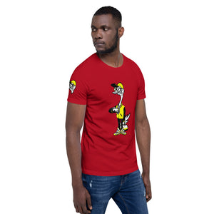 Fly Ostrich Mascot T-Shirt (Yellow/ Black)