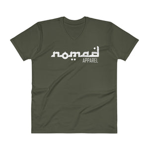 NOMAD White Signature (3 DOT) Premium Men's V-Neck T-Shirt